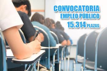 La Oferta Pública de Empleo prevé convocar 15.314 plazas de empleo público