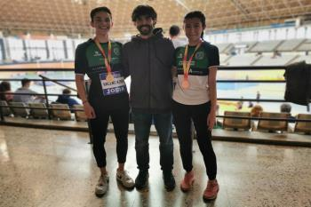 Los dos atletas alcalaínos que acudieron al nacional en Valencia han vuelto con medallas en la misma disciplina