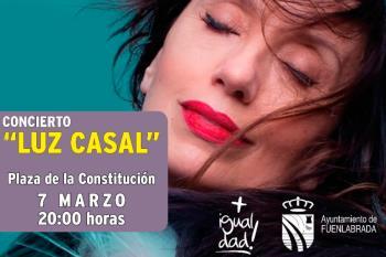 La artista actuará el próximo sábado 7 de marzo en la Plaza de la Constitución