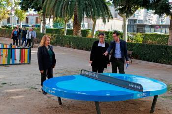 También se han instalado nuevas zonas de ocio infantil y otras para realizar ejercicio en Parque Coimbra