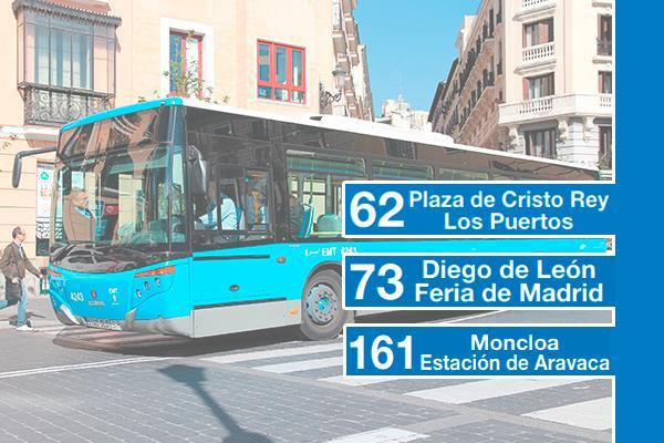 Madrid amplía las líneas 62, 73 y 161 de autobús