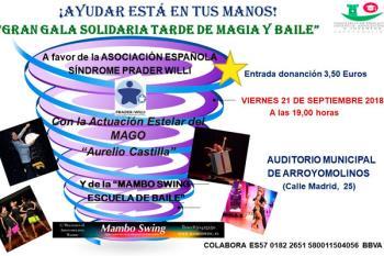 El 21 de septiembre a partir de las 19:00 horas en el Auditórium Municipal de Arroyomolinos