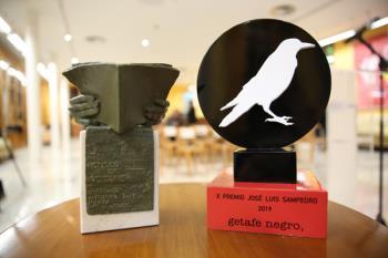 Carlos García Gual recibía el X Premio José Luis Sampedro en el mismo acto de Getafe Negro
