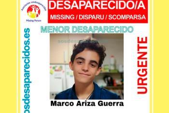 Se pide colaboración ciudadana para encontrar a Marco, de 15 años, que lleva desaparecido desde ayer