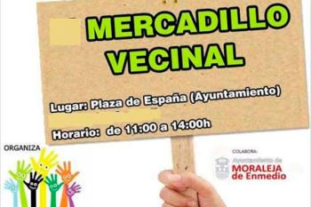 Moraleja acogerá un mercadillo vecinal el próximo domingo 2 de septiembre entre las 11:00 y las 14:00 horas en la Plaza de España