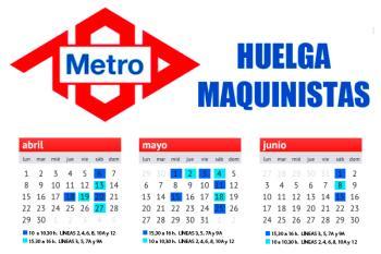 Los maquinistas del suburbano de Madrid convocan 17 jornadas de paros en diferentes líneas hasta junio