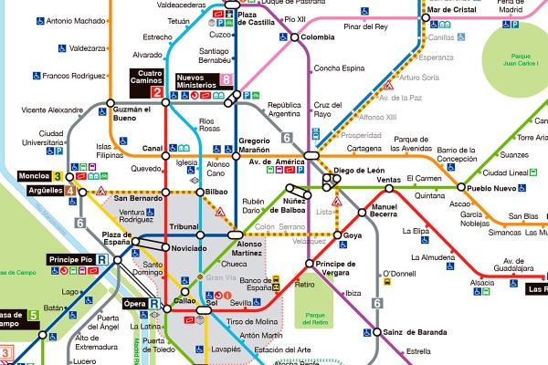 El suburbano ha puesto a punto sus planos para ofrecernos una vista más realista e informarnos de las nuevas estaciones accesibles