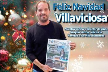 El villaodonense director de cine, Joaquín Mazón, felicita la Navidad a sus vecinos