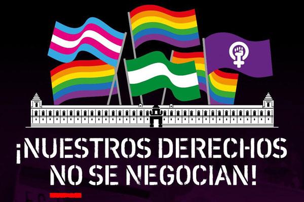 Tras el acuerdo de Gobierno entre Partido Popular, Ciudadanos y VOX, los activistas protestan