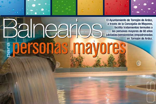 Ya están disponibles las solicitudes del nuevo Programa de Balnearios para Mayores del Ayuntamiento de Torrejón de Ardoz
