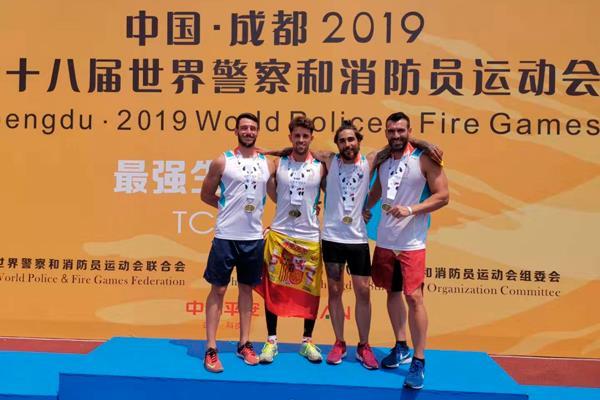 Ocho bomberos de Fuenlabrada conquistan los Mundiales de China