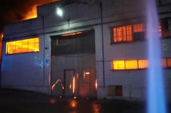 Una fábrica de tratamiento de madera próxima al Fermín Cacho ardió el 24 de julio