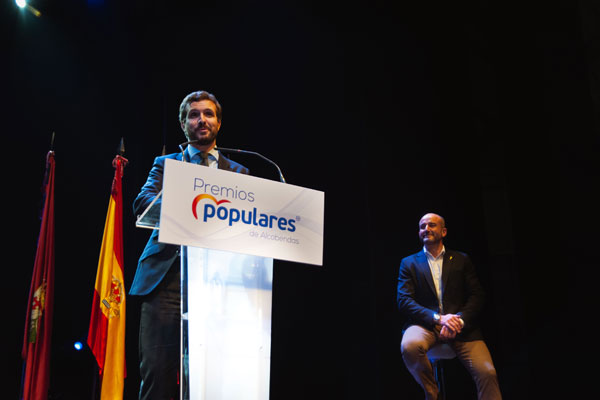 El líder del PP visitó nuestra ciudad para recibir el premio 'Popular de Alcobendas 2019'