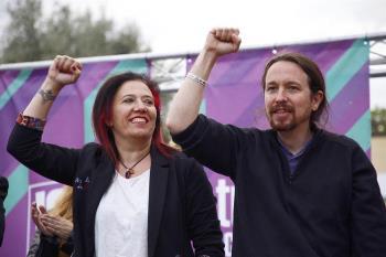 """•Pablo Iglesias: """"En Madrid los poderes económicos son expertos en poner de rodillas a los políticos"""""""