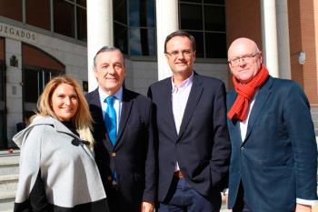 La portavoz de Cs Getafe, y el diputado de Cs, Paco Lara, visitan la sede judicial de la ciudad