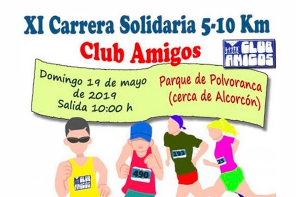 Parque Polvoranca acoge la XI Carrera Solidaria del Club Amigos