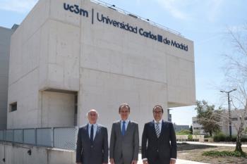 El responsable de Ciencia, Innovación y Universidades ha conocido el trabajo de las empresas del Parque Científico UC3M