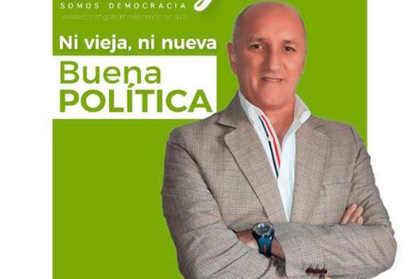 Pedro Luis Hernández, candidato a la alcaldía por Contigo Somos Democracia