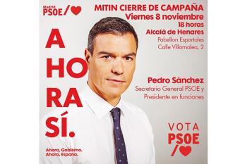 El candidato del PSOE acudirá el viernes a Espartales