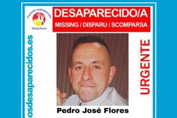 SOSDesaparecidos solicita colaboración ciudadana para ayudar en la búsqueda de Pedro, de 41 años