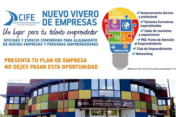 Despachos, coworking y un equipo de asesores en la zona FUENLAHUB, el vivero de empresas en Fuenlabrada