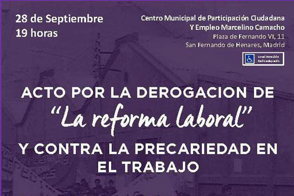 Podemos celebra un acto por la derogación de la Reforma Laboral