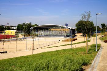 El recinto estrenará una pista de patinaje y hockey, una pista de calva, una pista de petanca, una pista de vóley-playa y un frontón