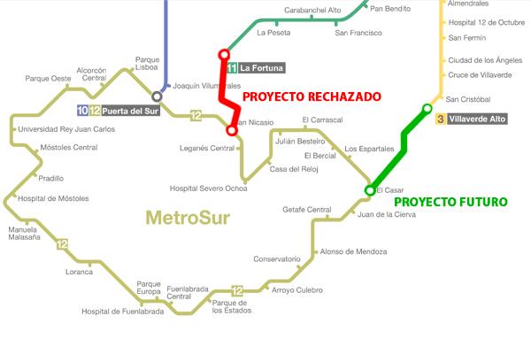 Posible Conexion De Metrosur Desde El Casar Con La L3 Por Villaverde