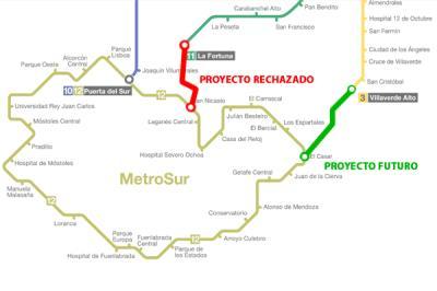 Lee toda la noticia 'Posible conexión de Metrosur desde El Casar con la L3 por Villaverde Alto'