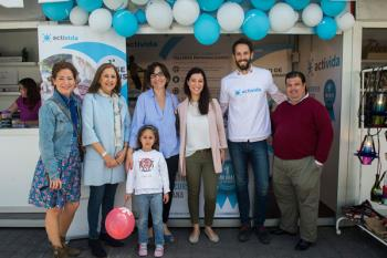 Las familias se reunieron en la Avenida de Europa para celebrar su día con juegos y talleres