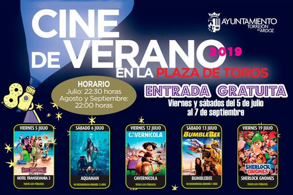Programa del 'Cine de Verano de Torrejón'