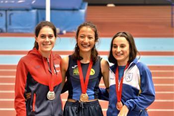 Miriam López, Celia de las Heras y Marta Sánchez, que entrenan con el Club de Atletismo Cervantes han conseguido importantes resultados este fin de semana