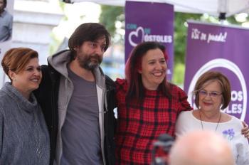 El diputado ha visitado el municipio para apoyar a Mónica Monterreal como candidata a la alcaldía