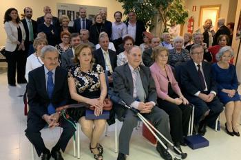 El Centro de Mayores Reina Sofía acogió ayer este acto de celebración y homenaje