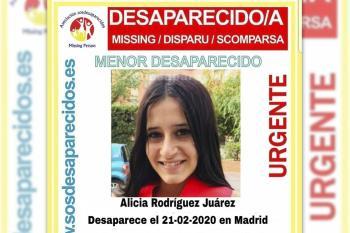 La menor desapareció en Madrid el 21 de febrero