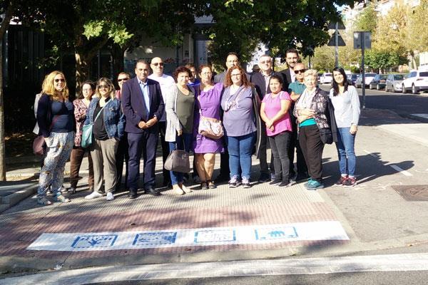 Sanfer estrena pasos de peatones inclusivos