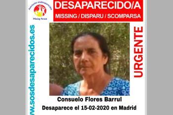 Según informa SOS Desaparecidos, Consuelo desapareció el pasado sábado 15 de febrero de 2020