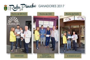 La concejala de Comercio e Industria, María Ángeles Méndez, se ha encargado de entregar los galardones en cada uno de los establecimientos