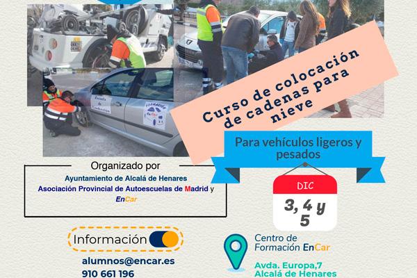 Alcalá ofrecerá unas jornadas para aprender a colocar cadenas de nieve