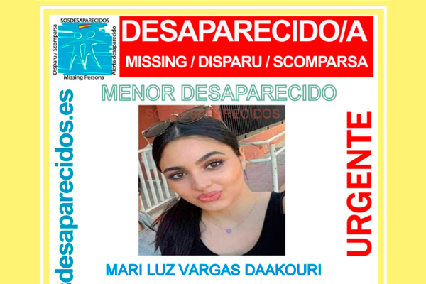 Se llama Mari Luz Vargas Daakouri y tiene 17 años