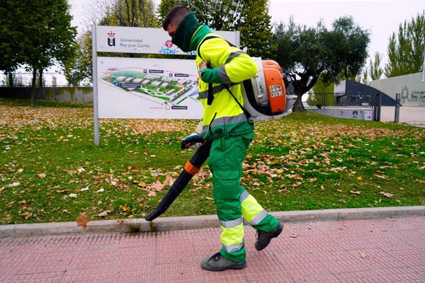 Servicio especial de retirada de hojas en la vía pública