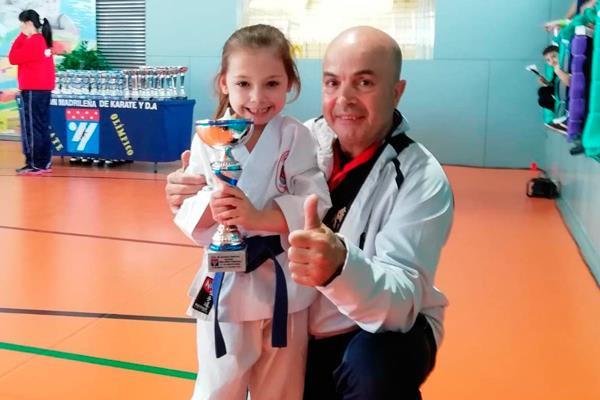Sofía Martínez, Campeona de Madrid de Katas con solo 5 años