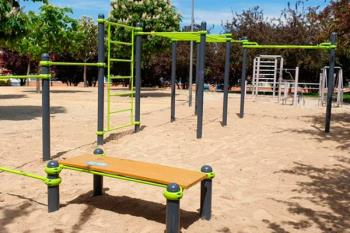 El parque situado en la calle Valdemoro ya alberga un circuito para practicar este deporte