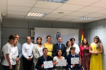 Macarena Galván, Hugo Soto y Alejandro Frías han comenzado ya sus estudios universitarios