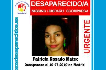 SOS Desaparecidos ruega colaboración ciudadana para encontrar a Patrícia