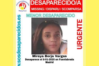 Mireya tiene catorce años y lleva desaparecida desde el 8 de enero