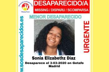 Se busca a una menor de doce años desaparecida el día 3 de marzo de 2020