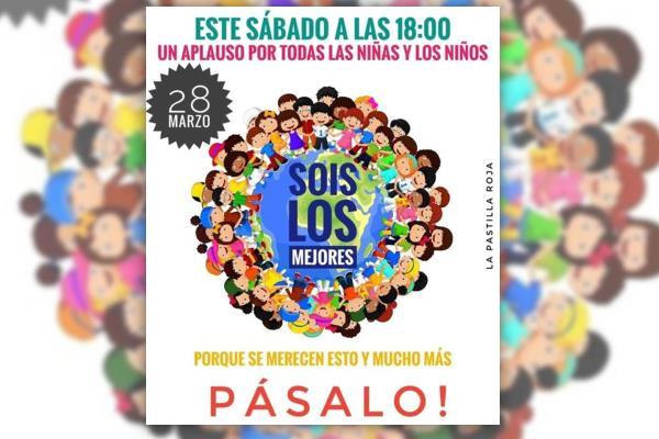 Un aplauso por los niños y niñas de toda España. Ellos se merecen esto y mucho más