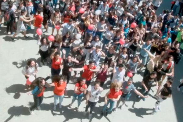 Los alumnos del IES Cardenal Cisneros bailarán su coreografía bajo el lema 'Su vida corre por tus venas'