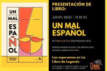El jueves 28 de febrero está organizada la presentación del libro de Federico de Arce
